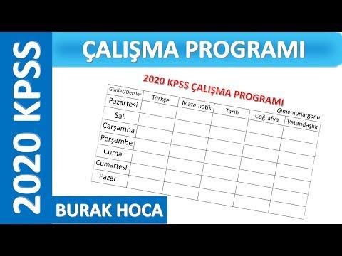 KPSS 2020 Çalışma Programı